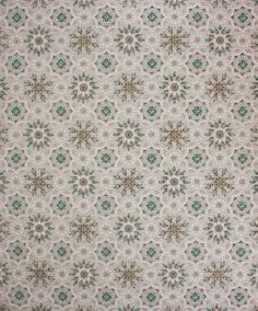 1960's Vintage Wallpaper Turquoise and Gray by RosiesWallpaper