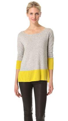 Vince Cashmere Colorblock Sweater | SHOPBOP