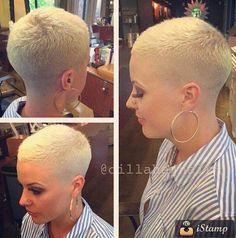 heartturntostone: Next haircut? Natural Hair Short Cuts, Short Sassy Hair, Super Short Hair, Short Hair Cuts For Women, Short Hairstyles For Women, Short Hair Styles, Tapered Hair, Really Short Hair, Short Pixie Haircuts