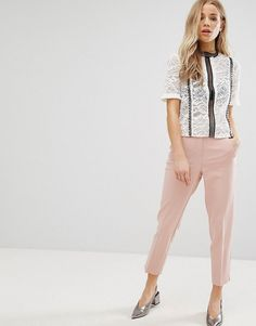 NEW LOOK TAPERED LEG PANTS - PINK. #newlook #cloth #