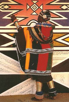Ndebele tribal wear, South Africa - patterns and colors We Are The World, People Of The World, Afrique Art, Art Tribal, Art Africain, African Textiles, African Patterns, African Tribes, Out Of Africa