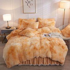 Faux Fur Bedding, Fluffy Bedding, Fur Comforter, Cute Bedding, Dorm Room Bedding, College Bedding, Dream Bedroom, Home Decor Bedroom, Queen Bedding Sets