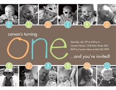 Timeline 1st Birthday Invitation (Boy or Girl) - Digital File. $15.00, via Etsy.