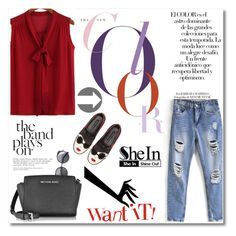 """www.sheinside.com"" by mery1991 ❤ liked on Polyvore featuring Michael Kors, Alice + Olivia, Wood Wood, Arco and Sheinside"