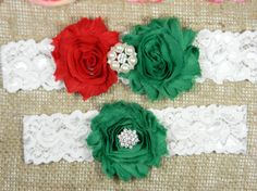 Check out this item in my Etsy shop https://www.etsy.com/listing/261891452/christmas-wedding-garter-bridal-garter