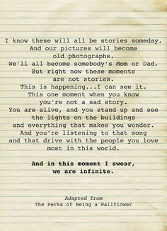 Perks of Being a Wallflower...what an awesome film. We are all broken in some way, but there is always hope that there is someone who can help fix us if we let them...and life will go on.