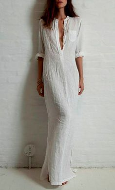 V Neck Single Breasted Plain Maxi Dress Fashion girls, party dresses long dress for short Women, casual summer outfit ideas, party dresses Fashion Trends, Latest Fashion # Look Fashion, Street Fashion, Womens Fashion, Dress Fashion, Latest Fashion, Fashion Trends, Fashion Clothes, Fashion Black, Beach Fashion
