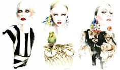 illustration | ... Soares interview and delicate fashion illustration and watercolour