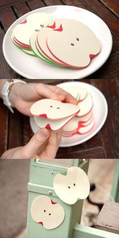 Enjoy fresh cut of apple! :)