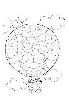Airballoon tracing lines Preschool Writing, Preschool Worksheets, Kindergarten Activities, Pre Writing, Writing Skills, Childhood Education, Kids Education, Motor Activities, Activities For Kids