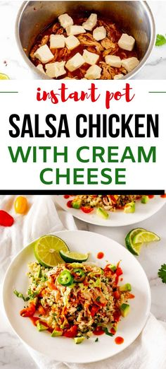 I really want to try new low carb Instant Pot recipes and this Instant Pot Salsa Chicken with Cream Cheese looks so good! I can't wait to cook this easy recipe for my family. SO PINNING! Salsa Chicken, Keto Chicken, Healthy Chicken, Chicken With Salsa Recipe, Chicken Recipe Instant Pot, Peanut Chicken, Best Instant Pot Recipe, Breaded Chicken, Chicken Wraps