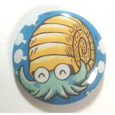 Pokemon Center 2013 15th Anniversary Omanyte tin Can Badge