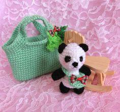 Panda Bear Amigurumi in the Bag/Crochet Mini by PrincessInDreams-Etsy, this is adorable!!