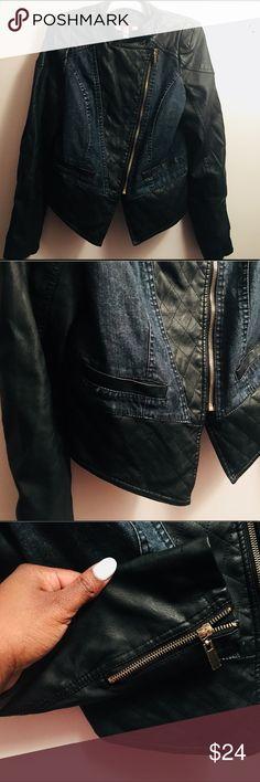 💕NWOT Palomares Sports Jacket💕 Medium Very sexy women's leather and denim motorcycle jacket‼️  Women's, Medium, zippers on sleeve Jackets & Coats