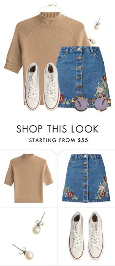 """""""Just feeling the vintage """" by flroasburn ❤ liked on Polyvore featuring Theory, Miss Selfridge, J.Crew, Converse, Illesteva, Kate Spade and vintage"""