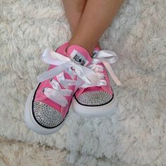 74af57cb65421f Diamonds are a Girl s Best Friend Treat your little one to exclusive custom  designed Bling Converse sneakers Made with Swarovski Crystals not plastic  ...