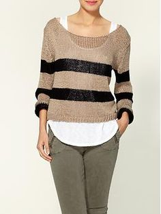 Brandy & Melville Gina Pullover Stripe Sweater | Piperlime