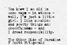 Fitzgerald. I'm nearing obsession.