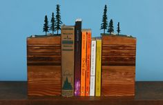 oh, holy moly this is awesome.  Bookends by Garth Borovicka