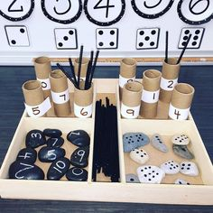 I would use this tray in an individual math center or when working with a student one on one to develop number sense skills. Maths Eyfs, Numeracy Activities, Literacy And Numeracy, Reggio Classroom, Nursery Activities, Kindergarten Activities, Teaching Math, Math Centers, Math Games