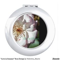 """""""Love in Summer"""" Rose Design Travel Mirror"""