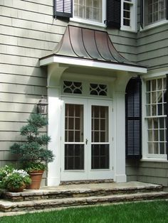 copper door awning - Google Search