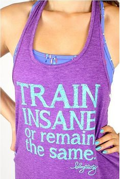 Love the oversized tank for workouts. To Give: Train Insane Tank ($22)