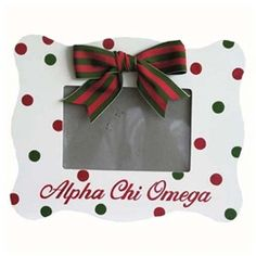 Alpha Chi picture frame