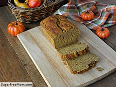 Gluten Free Pumpkin Banana Bread {No Sugar Added} -- also recommends using whole wheat pastry flour instead of GF