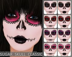 Action Sugar Skull Face Paint - Classic