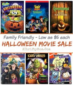 Halloween Movies for the whole family, Family Freindly shows to watch for Halloween parties, DVDs and Blurays low cost but lots of fun, fall movies