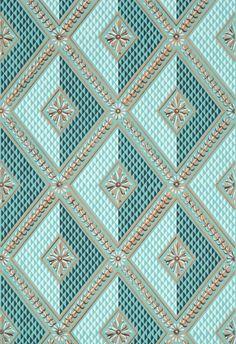 Adelphi Custom and Historic Wallpaper and Paper Hangings    Philadelphia Harlequin   Alternate colorway D