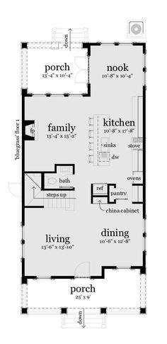 Farmhouse Style House Plan - 3 Beds 3 Baths 2789 Sq/Ft Plan #64-223 Main Floor Plan - Houseplans.com