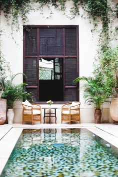 outdoor environments  |  tile bottom pool