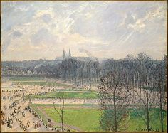 Camille Pissarro, (French, 1830–1903). The Garden of the Tuileries on a Winter Afternoon, 1899. The Metropolitan Museum of Art, New York. Gift from the Collection of Marshall Field III, 1979 (1979.414) #paris www.antichitalavagno.it