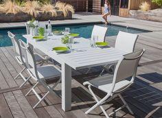 9c6085b5f245d7 Ensemble table Aurore + 6 chaises Elégance (1 gratuite) - Salon de jardin  pour