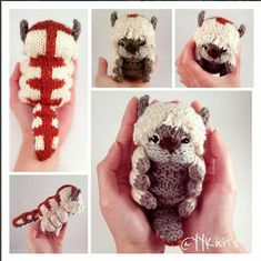 Appa Knitted PDF Pattern – From Avatar the Last Airbender Appa gestrickte Amigurumi PDF-Muster von Avatar the Last Crochet Projects, Sewing Projects, Knitting Projects, Diy Projects, Knitting Patterns, Crochet Patterns, Kids Knitting, Knitting Tutorials, Knitting Wool