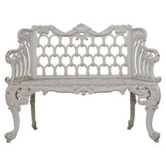 Check out this item at One Kings Lane! French Iron Garden Settee