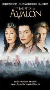 """The Mists of Avalon - 2001 based on a book by Marian Zimmer Bradley, tells the story of three sisters who have the gift of """"sight."""" And the fates of the eldest sister's daughter & son in the time of King Arthur. Fascinating (female) take on the legend."""