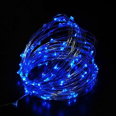Infinite power LED light string Christmas light 10 meters  33 feet 100 LED lung rope lamp Christmas holiday decoration indoor outdoor wedding Party blue * Check out this great product.