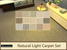 A set of 15 random natural light colored carpets. Found in TSR Category 'Sims 4 Walls & Floors Sets'