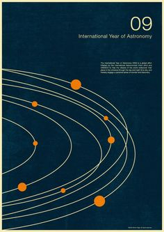 International Year of Astronomy 2009 by Simon C Page, via Behance