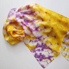 Silk scarf. Batik. Shibori