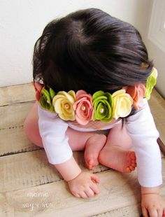 mama says sew: Felt Flower Crown Tutorial