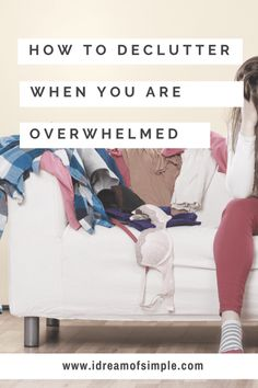 Decluttering when you are overwhelmed can be debilitating and even prevent you from starting. Read these 15 tips to declutter when you are overwhelmed! House Cleaning Tips, Deep Cleaning, Cleaning Hacks, Clutter Free Home, Declutter Your Life, Organizing Your Home, Organising, Organizing Clutter, Closet Organization