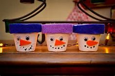 Image result for terra cotta pot snowman