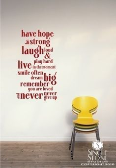 Wall Decal Quote Have Hope Quote  Vinyl Wall by singlestonestudios, $36.00