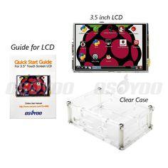 3.5 inch Raspberry Pi LCD TFT Touchscreen Display for Raspberry Pi 2 and Pi 3 Model B LCD + Acrylic Case FreeShip