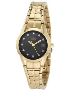 (CLICK IMAGE TWICE FOR UPDATED PRICING AND INFO) #watch #watches #ladieswatches #womenswatches Citizen EW1412-54G Women's Dress Diamond Eco Drive Gold Tone Watch  - See More Womens Watches at http://www.zbuys.com/level.php?node=6618=womens-watches