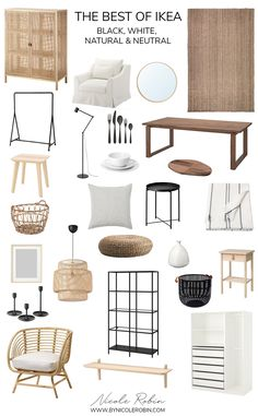 Designer IKEA Favourites | The best black, white, natural and neutral IKEA pieces that look expensive but aren't. Up your home style on budget with these top IKEA picks like Stockholm, Vittsjo, Sinnerlig, Lisabo and More! Boho Chic Home and Scandinavian Style on a budget! #ikea #bestofikea #ikeadesignerpicks #budgethomedecor #scandinaviandecor #bohodecor Home Living Room, Apartment Living, Living Room Decor, Apartment Interior, Parisian Apartment, Minimalist Apartment, Apartment Design, Living Room Designs, Ikea Home